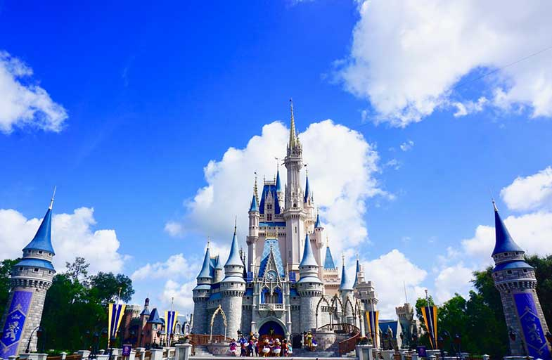 Disney World Castle in Orlando, Florida