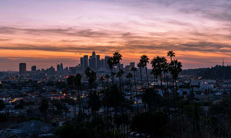 Lincoln Heights Los Angeles at Night