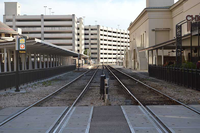 Train Track Downtown Orlando