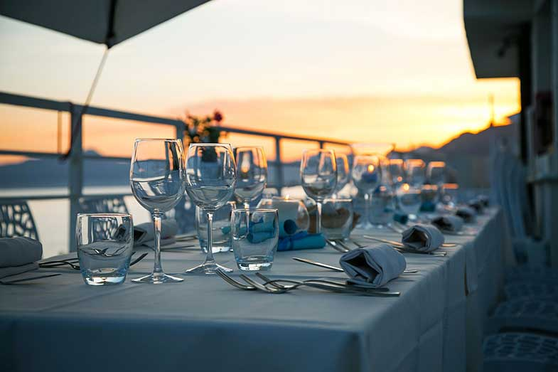 Dinner Table with Glassware