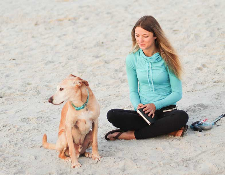 Dog Beside Woman
