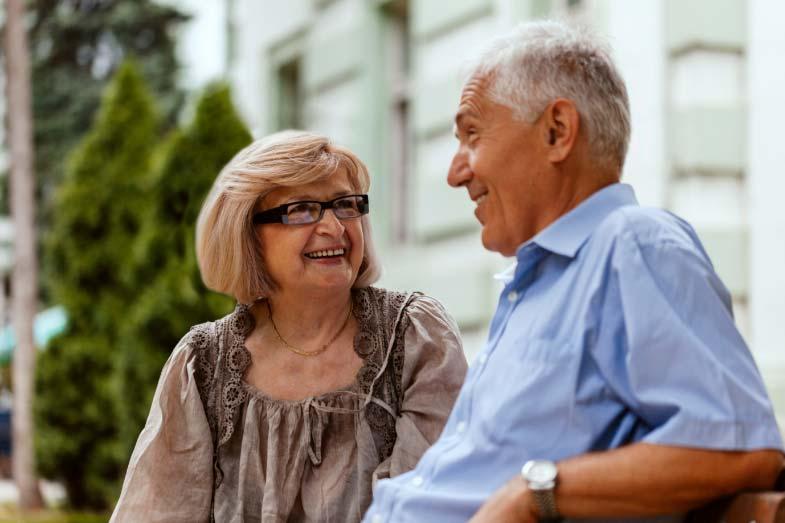 Older Couple Socializing