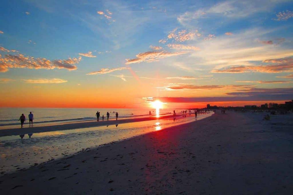 Beach Sunset at Siesta Key, Florida