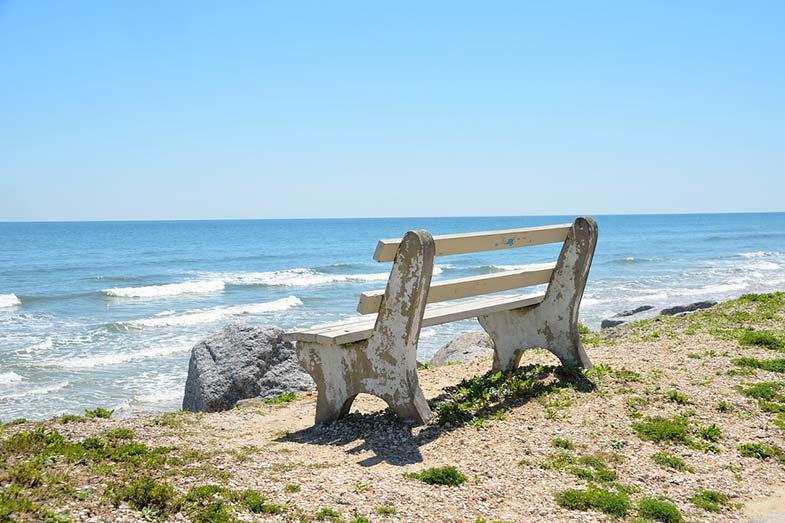 Bench Chair Overlooking Beach in Florida