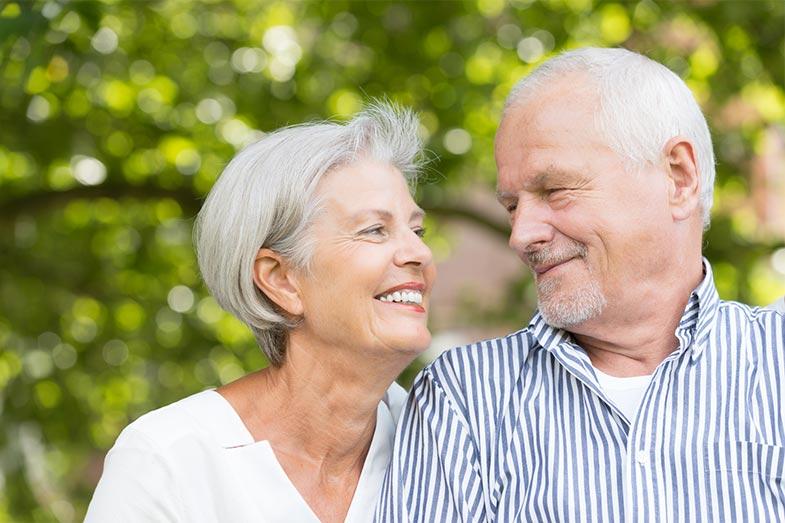 Happy Senior Couple Smiling