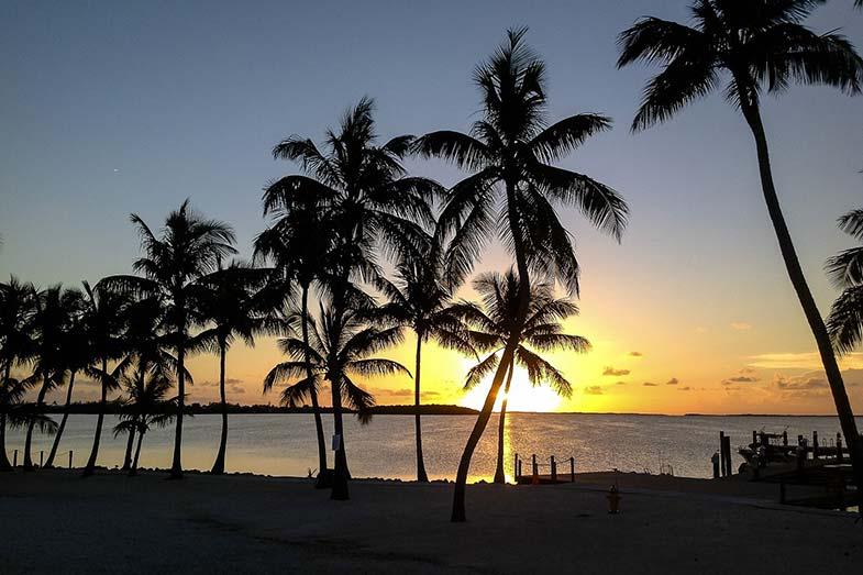 Key Largo Beach Sunset