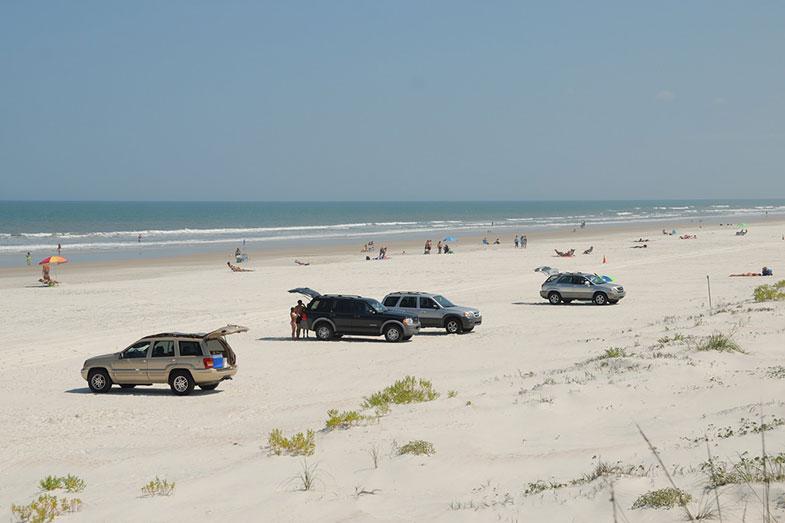 Cars on St. Augustine Beach, Florida