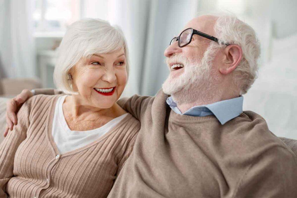 Cheerful Elderly Couple