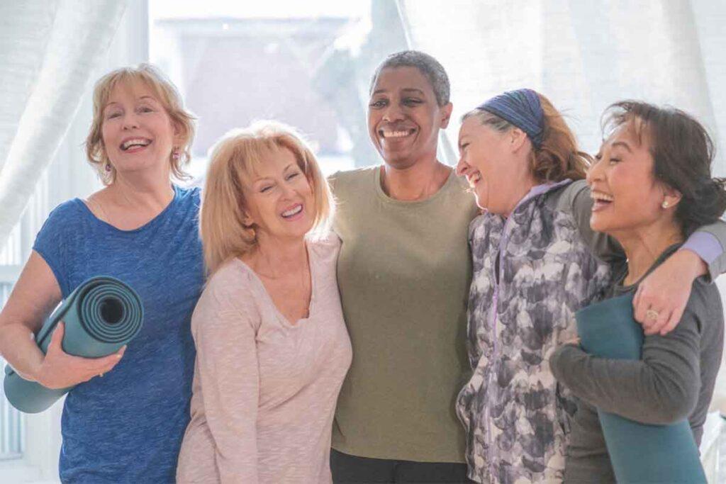 Senior Friends Smiling Together