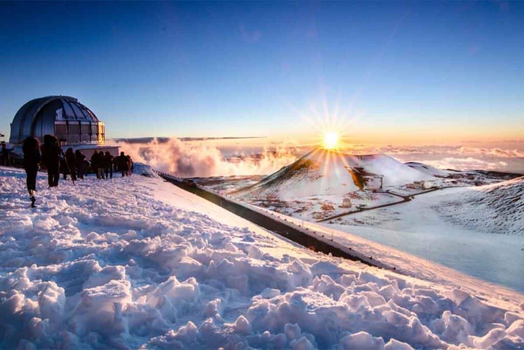 Mauna Kea, Hawaii, Winter Snow