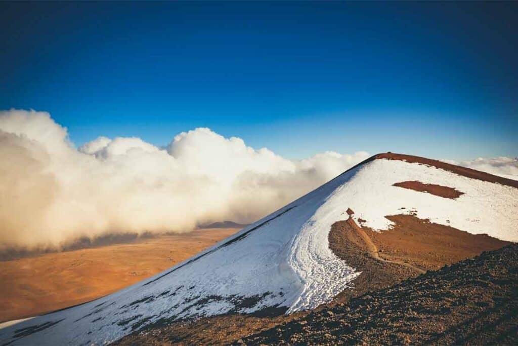 Mauna Kea Snow-Capped Volcano, Big Island, Hawaii