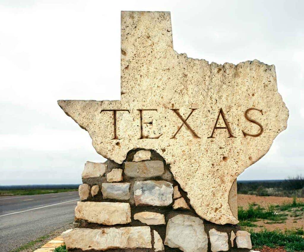 Texas Sign Along Roadside
