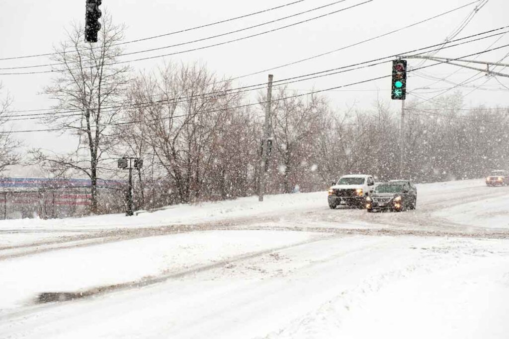 Winter Snowstorm in Portland, Maine
