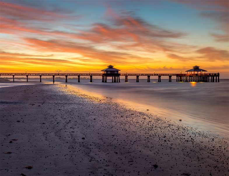 Fort Myers Pier at Dawn