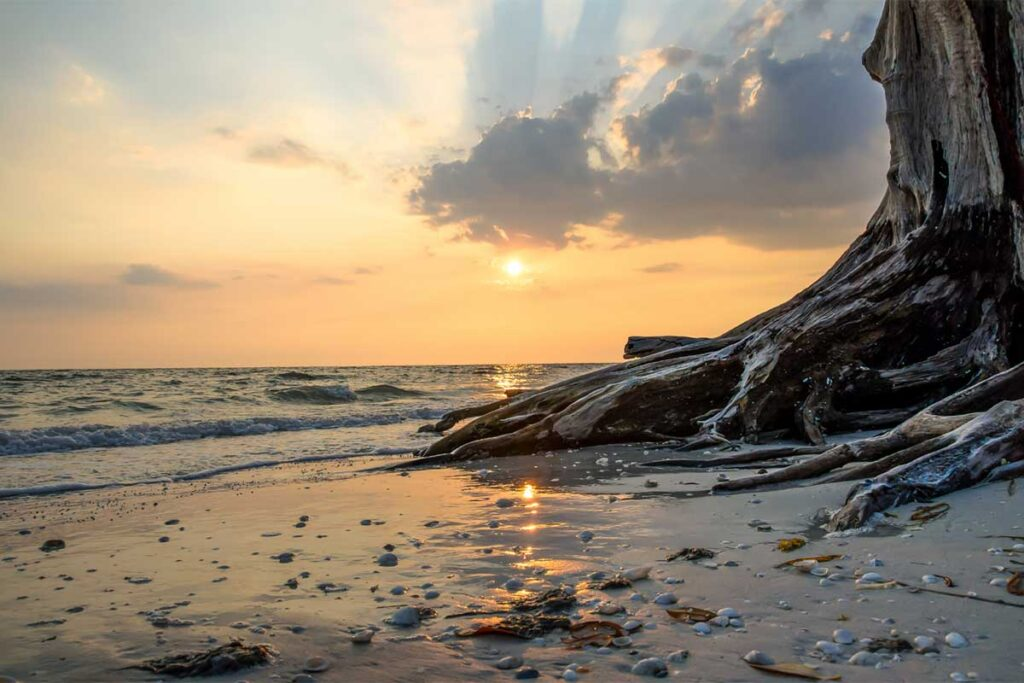 Lovers Key State Park Beach Sunset