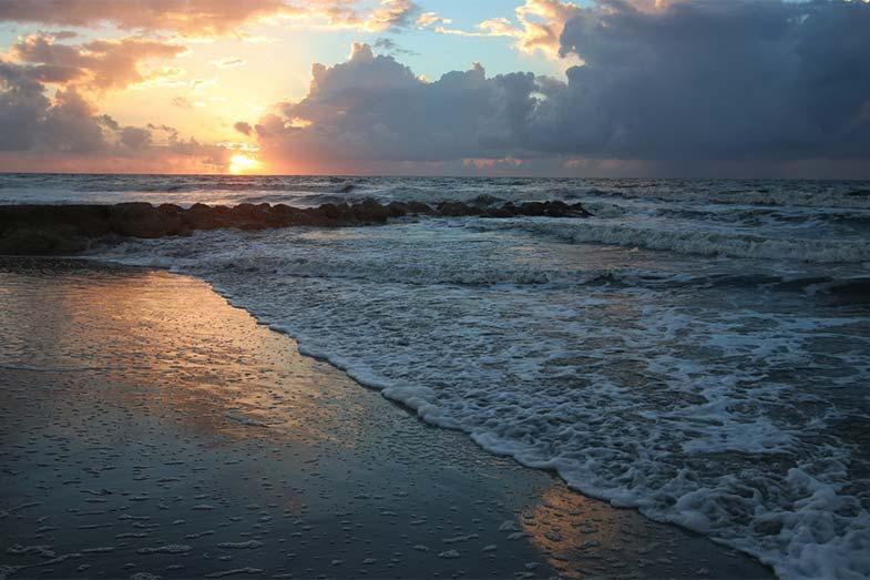 Sunrise at Folly Beach, South Carolina