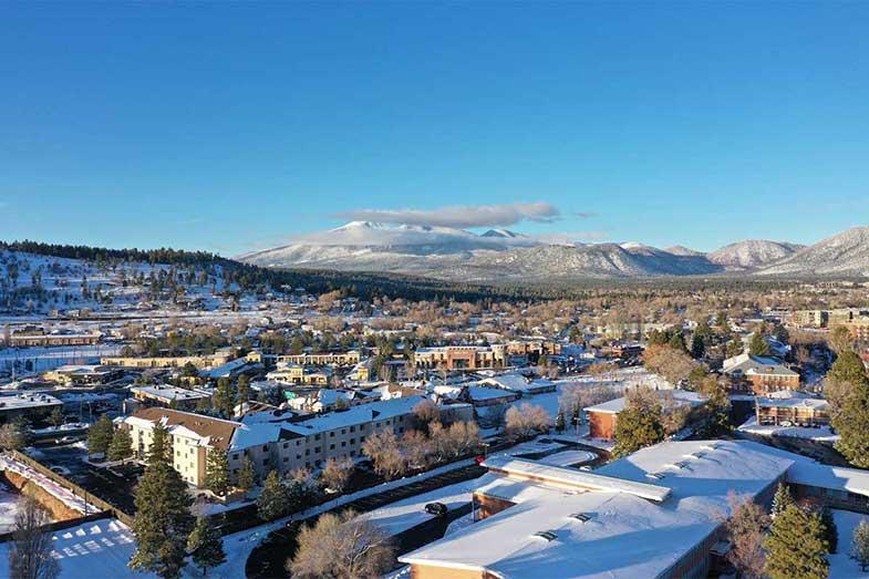 Snow in Flagstaff, Arizona