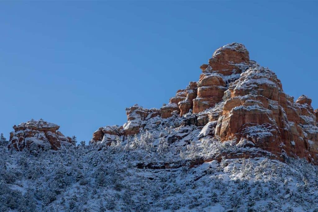 Snow in Sedona, Arizona, Winter
